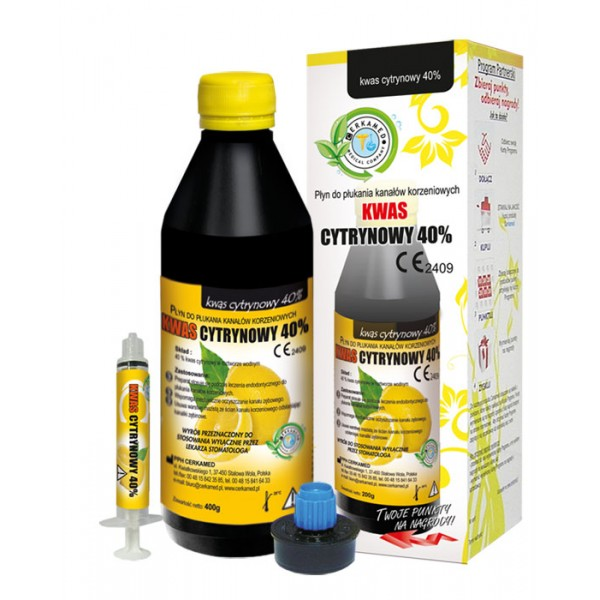 Citric Acid - 5 x 200g bottles and 5 syringes