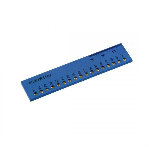 ENDOcalibrator - gutta-percha calibrator with endodontic ruler