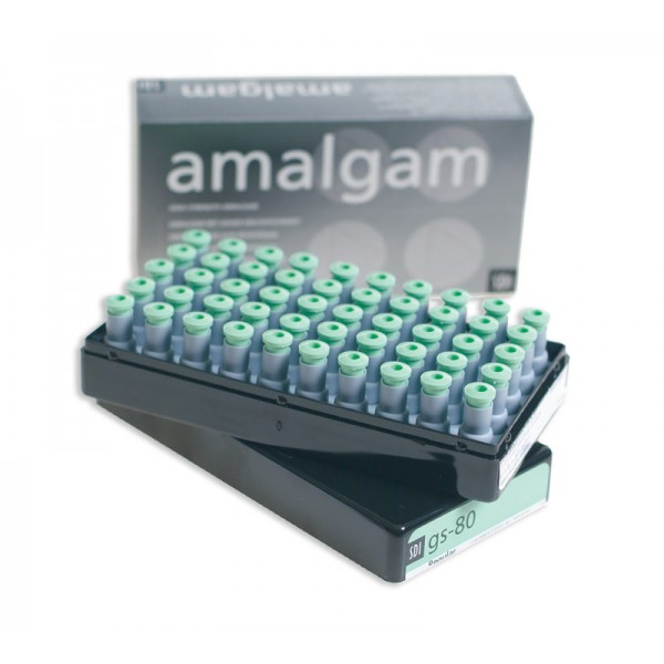GS-80 Admix 1 Spill Regular Caps. Amalgam 50pk