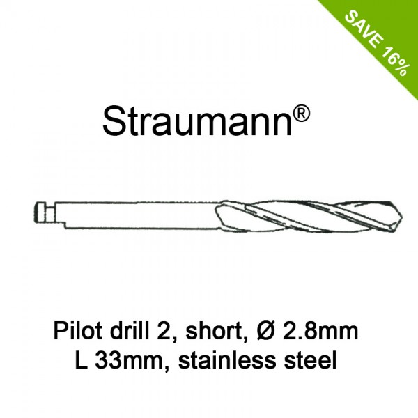 Straumann Pilot Drill 2, short, Ø2.8mm, L33