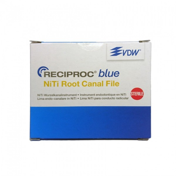 VDW NiTi Reciproc Blue files 25mm R50 Qty 6